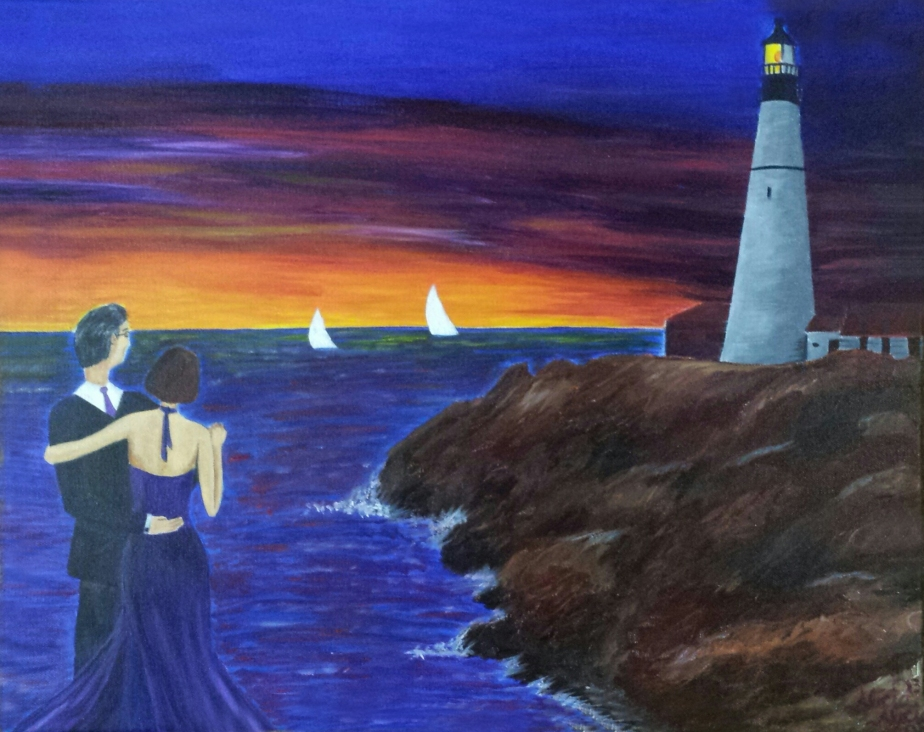 acrylic-painting-sunset-dancers