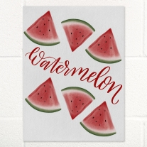 Watermellon Watercolor with Hand Lettering Art Print